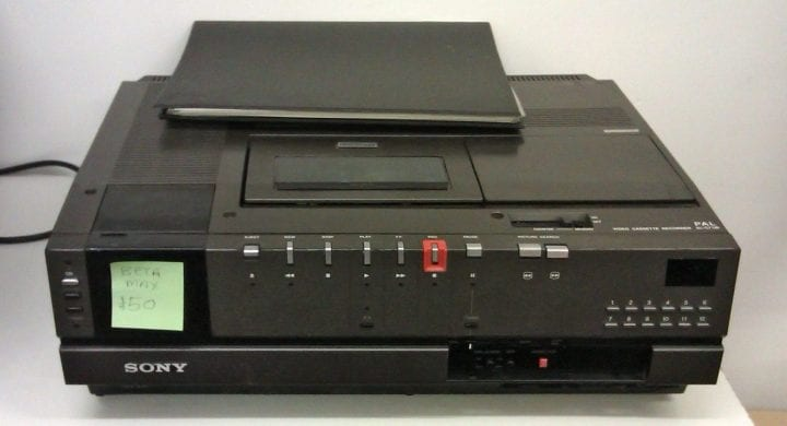 an old betamax for sale somewhere
