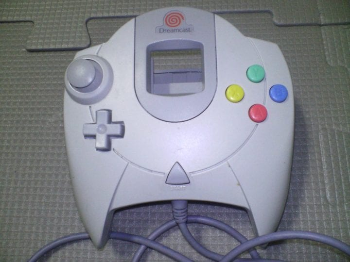 an outdated game controller