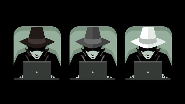 Black white gray hat hacker