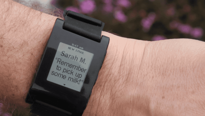 a smart watch that tells someone to do something