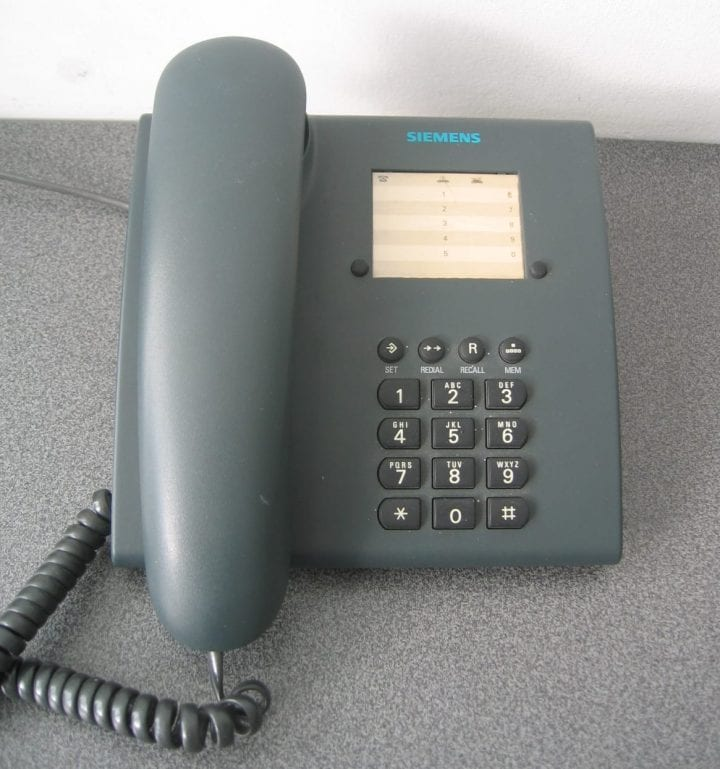 a landline phone that clearly nobody has used