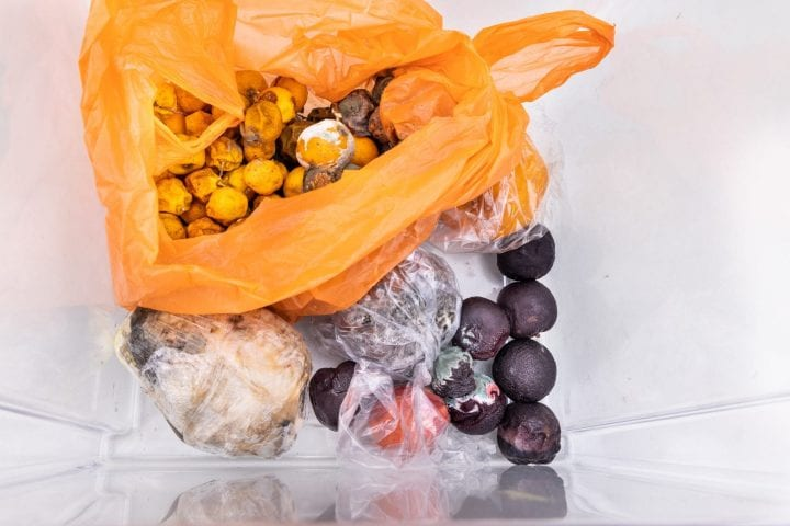 Rotten and moldy fruits and vegetable found in refrigerator drawer after some time
