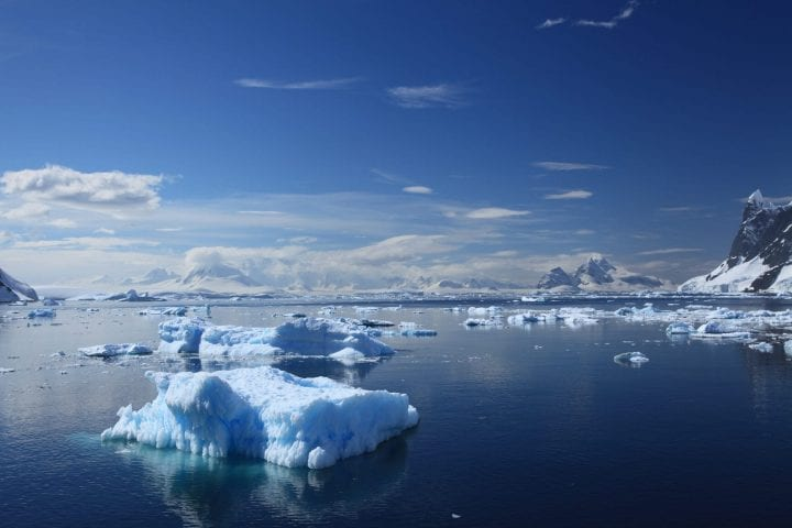 ice in antarctica melting substantially