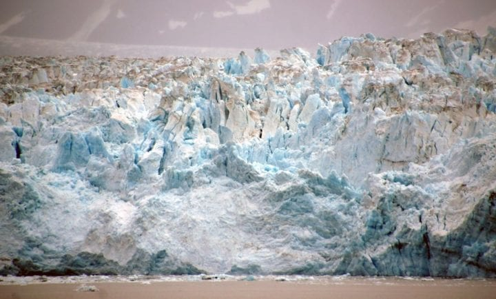 a giant glacier migreates in some direction