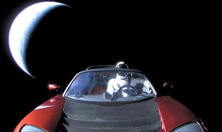 Elon Musk's Tesla Roadster is on its way back from Mars