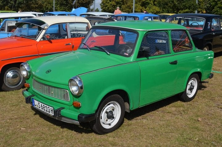 a green car that should likely have never been built