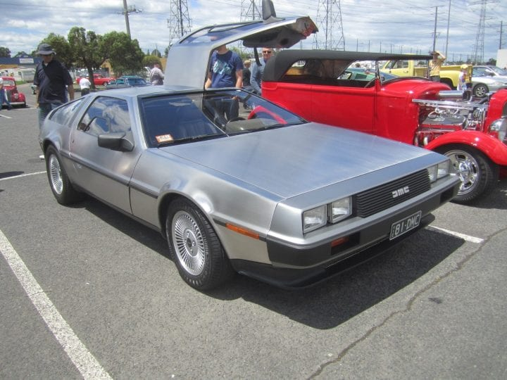 an old delorean