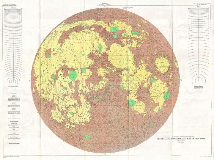 Geological lunar map