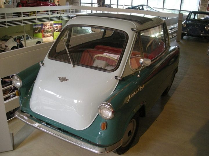 a car with doors that open in a bizarre way