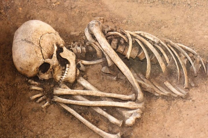 Italian excavation exposes 'vampire burial' of a ten-year-old child