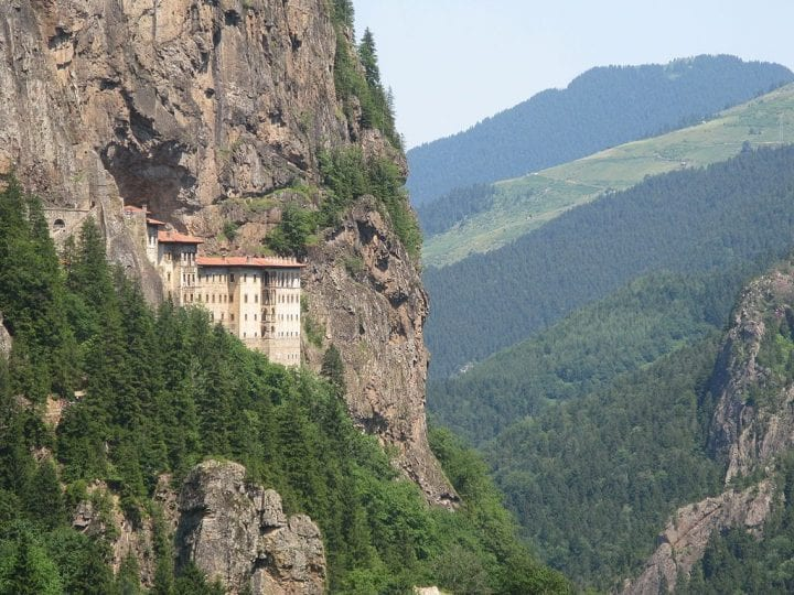 a building built into the side of a mountain