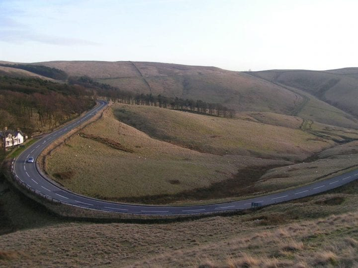 a winding road in the country side