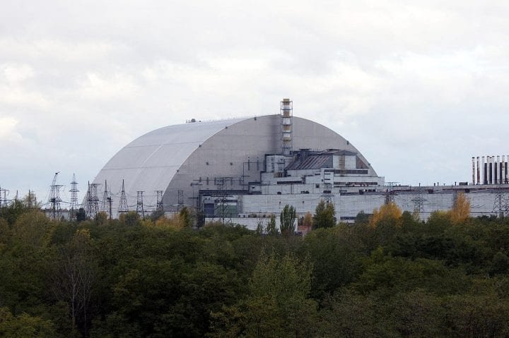 a dome over an abandoned nuclear facility