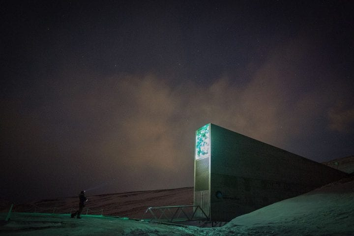 a weird building in the middle of the arctic