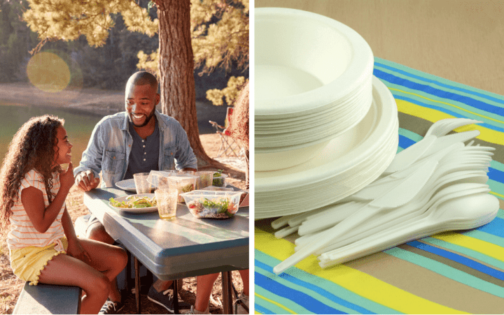 Plastic and eco friendly dinnerware