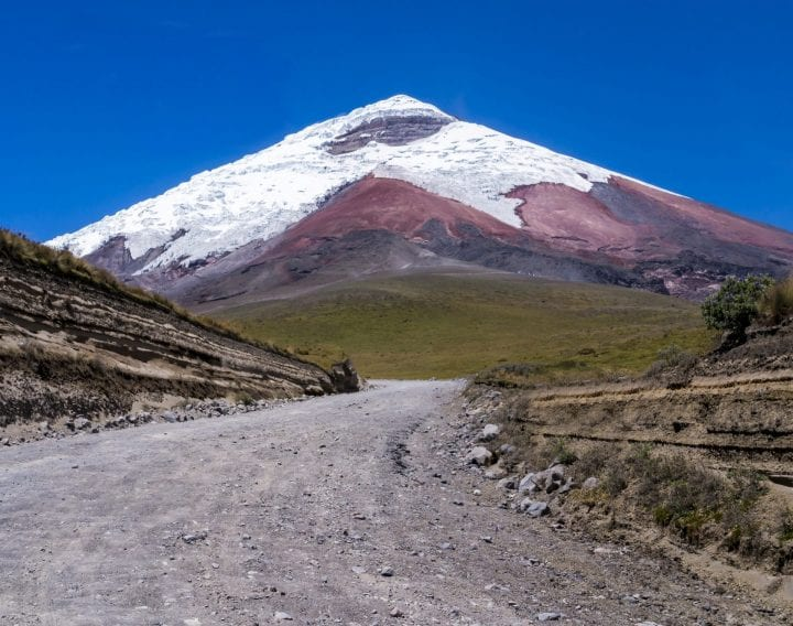 Stunning view of snow capped Cotopaxi volcano, Ecuador