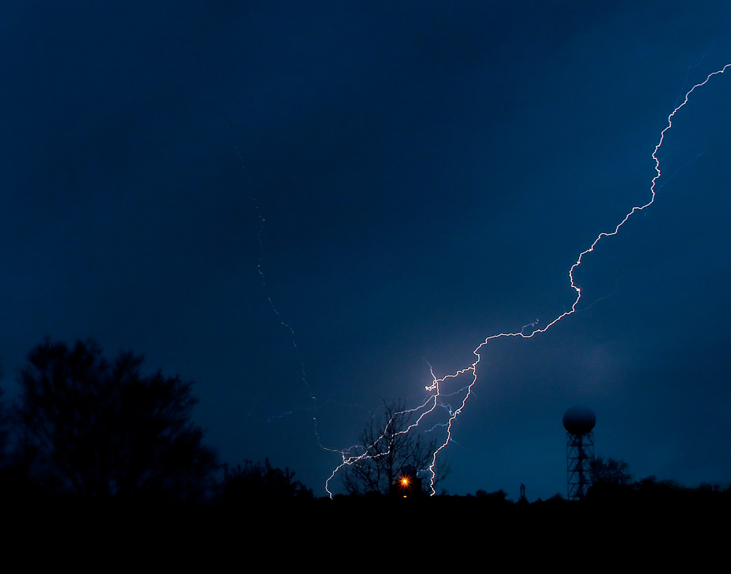 lightning strike in the distance