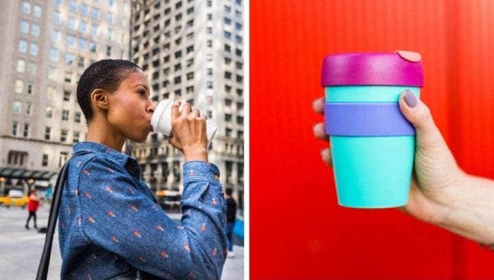 Reusable coffee cup to go mug