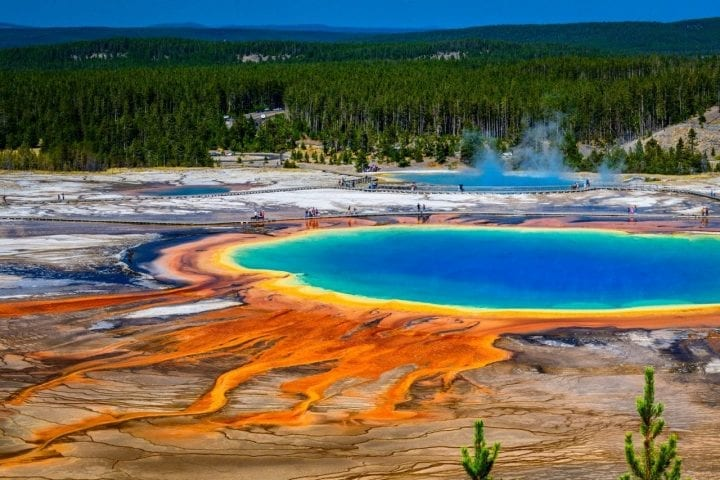 Yellowstone national park pool