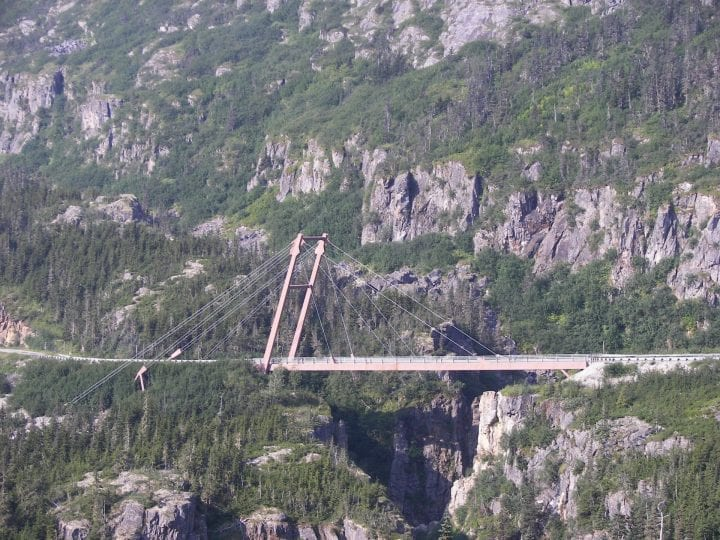 a bridge that was connected only on one side