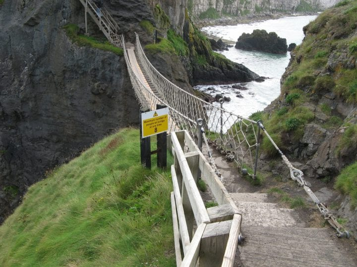 a bridge in scotland that looks a little sketchy