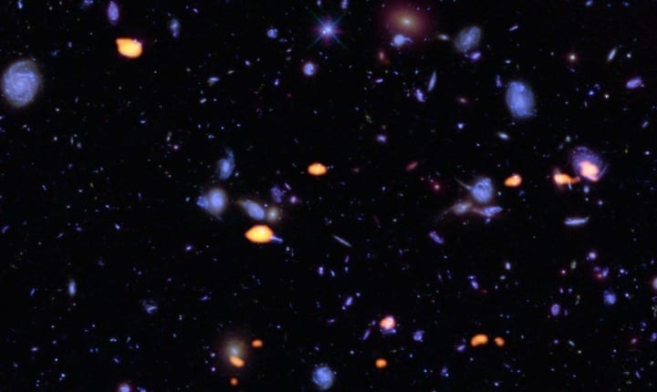 The ethereal glow of deep space has been caught on camera