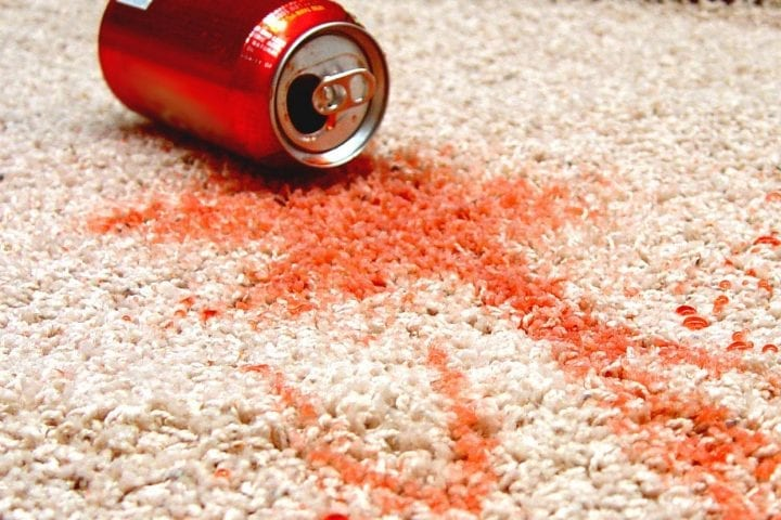 coke spilled onto carpet