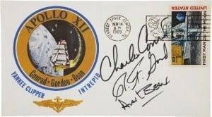 Astronaut apollo insurance card autograph signed cover