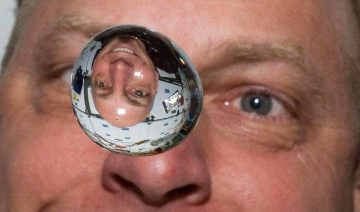 Astronaut water bubble floating space zero gravity