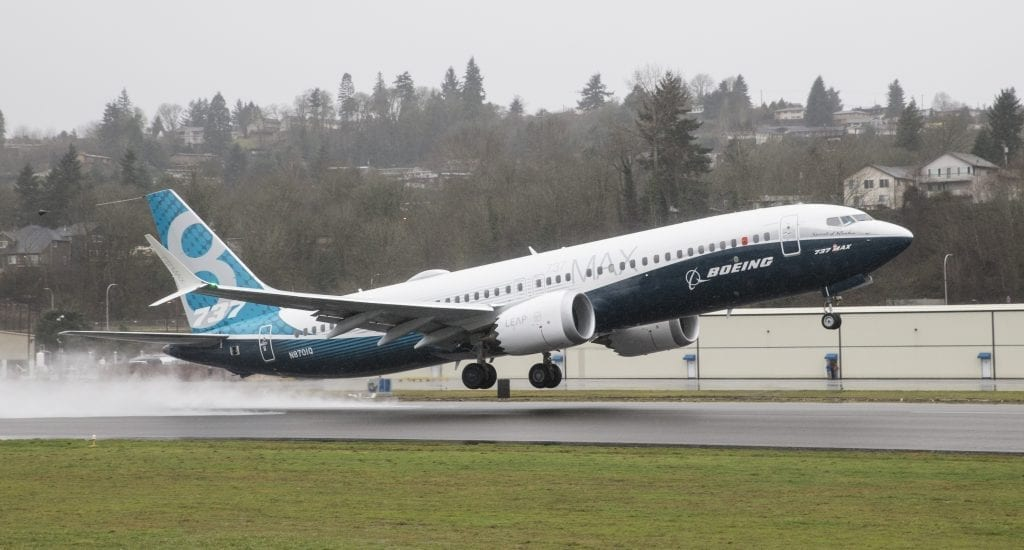 Boeing 737 max 8 airplane