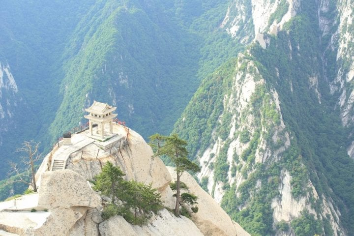 Chess pavilion Mt. Huashan dangerous