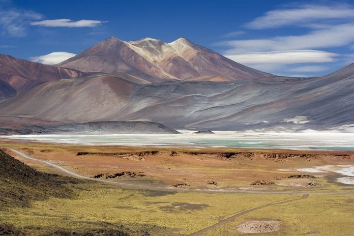 Chile mountains salt flats