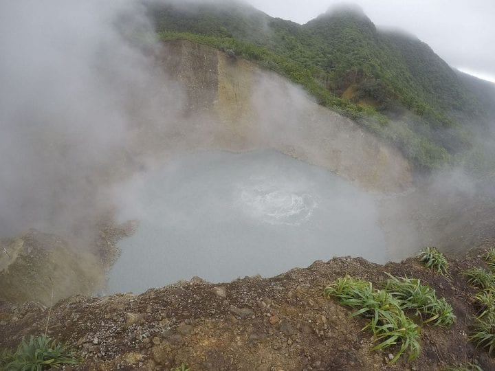 a boiling lake that looks intimidating