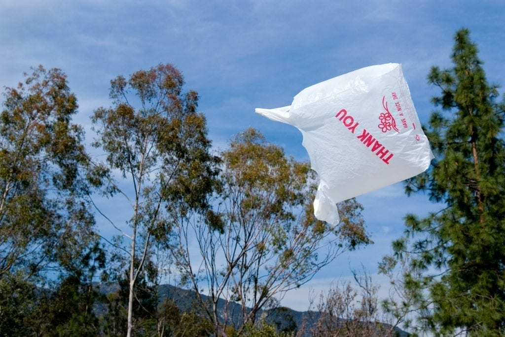 Plastic bag air