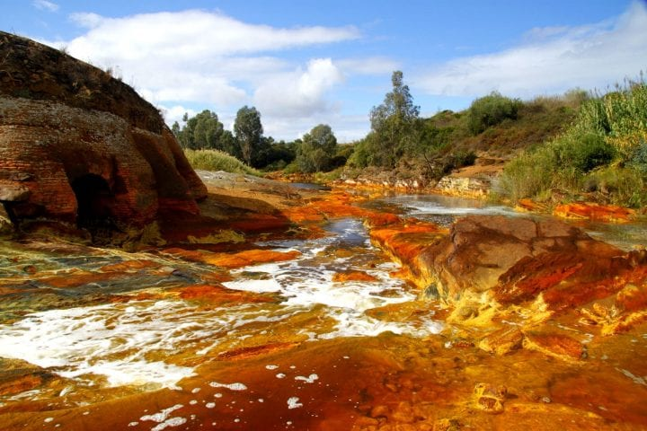 a gross stream that you should avoid because it's orange