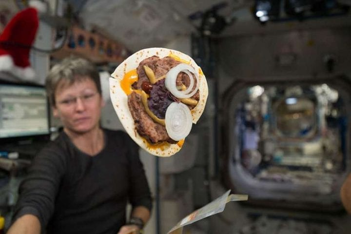 Tortilla space station zero gravity