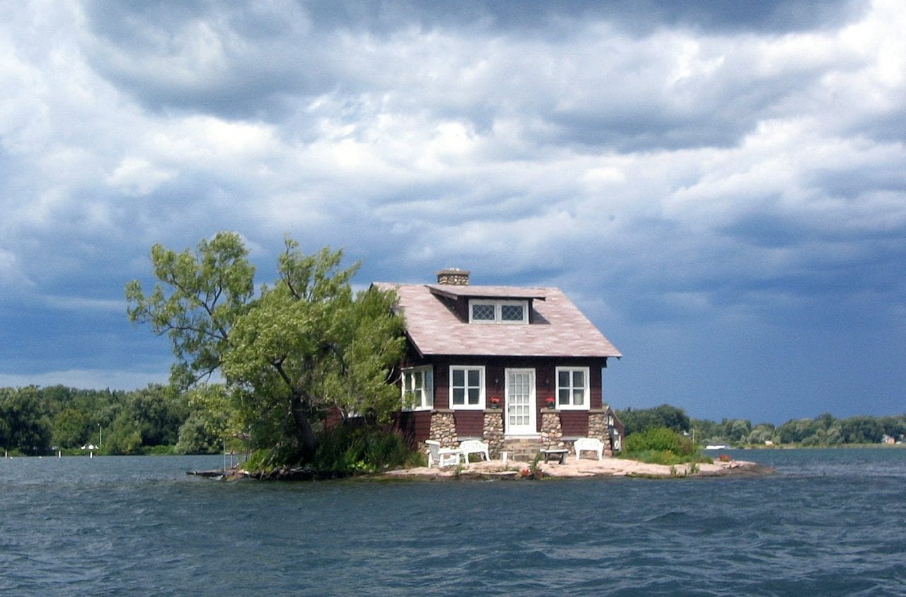 Just enough room island house thousand islands river
