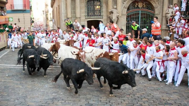 running with the bulls in spain