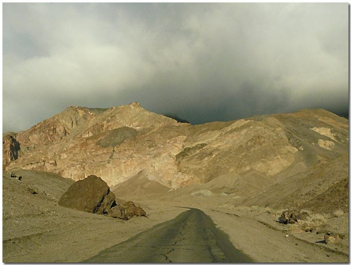 clouds over death valley