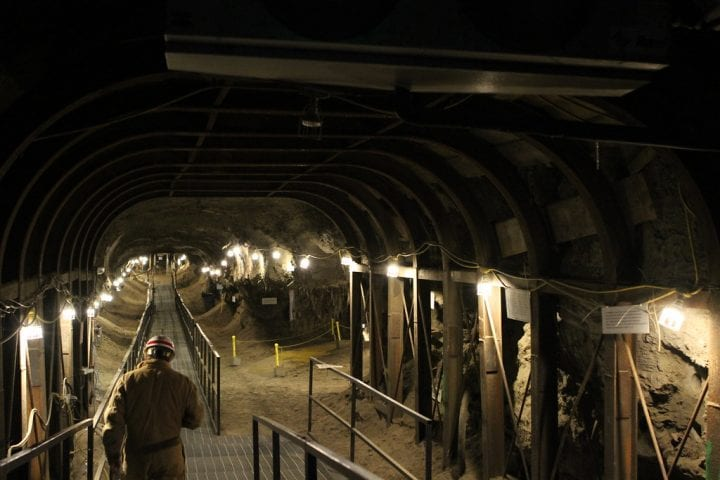 picture of a tunnel beneath the ground