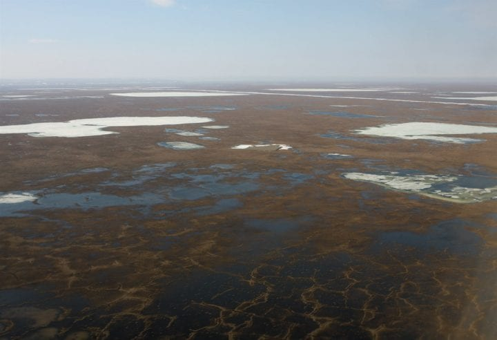 the alaskan permafrost from above