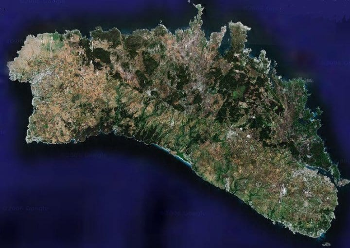 an island that is blurred on Google Maps