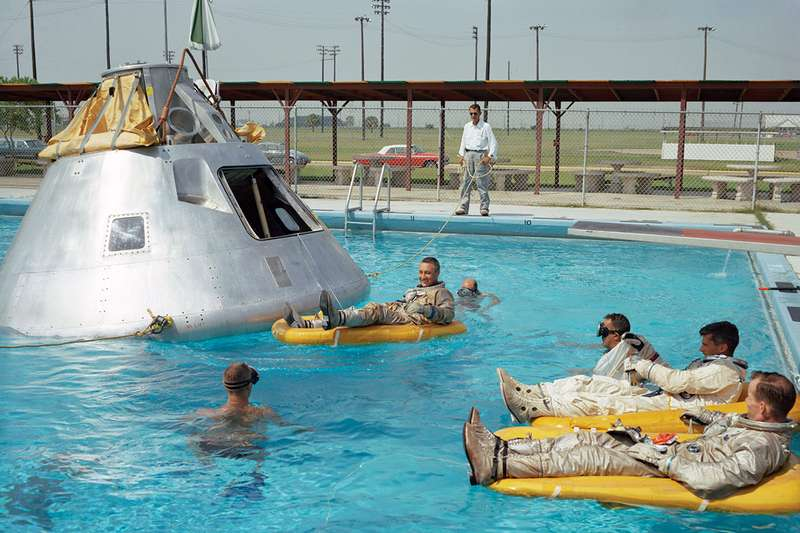 Apollo 1 crew pool NASA photos