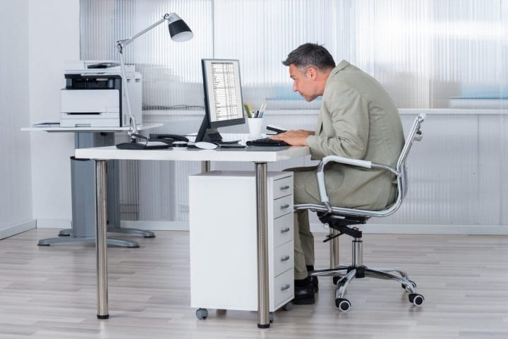 Bad posture desk health habit