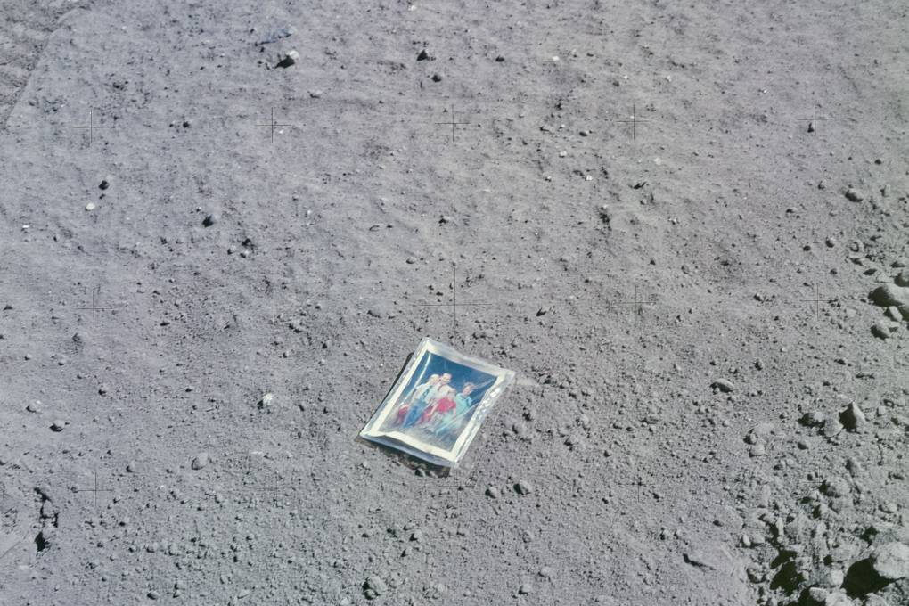 Charlie Duke moon photograph NASA photos