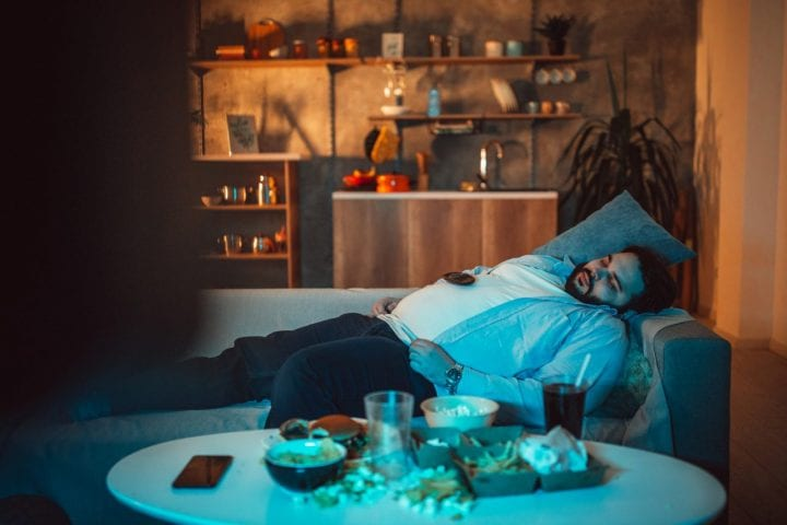 Falling asleep to TV bad habit health