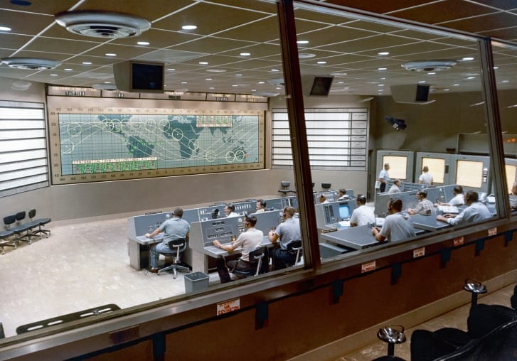 Mercury control center NASA photos