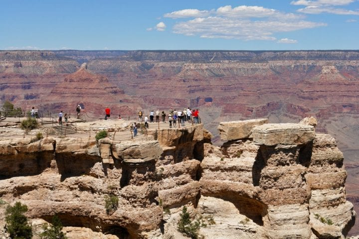 people walking on the grand canyon