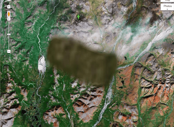 blurred image on google maps russia