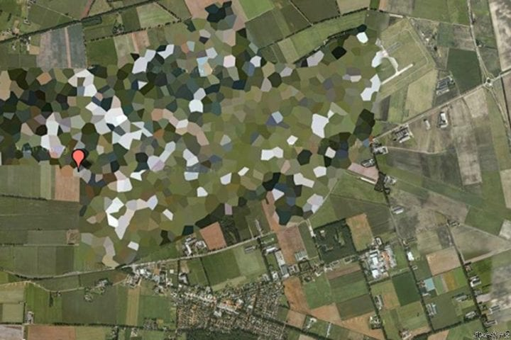 airforce base from space